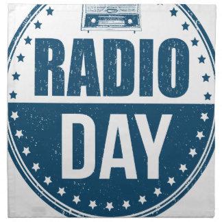 13th February - Radio Day - Appreciation Day Napkin