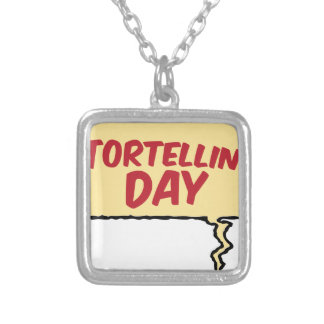 13th February - Tortellini Day - Appreciation Day Silver Plated Necklace