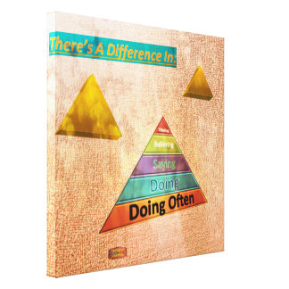 13th Quote; There's a difference in..... Canvas Print