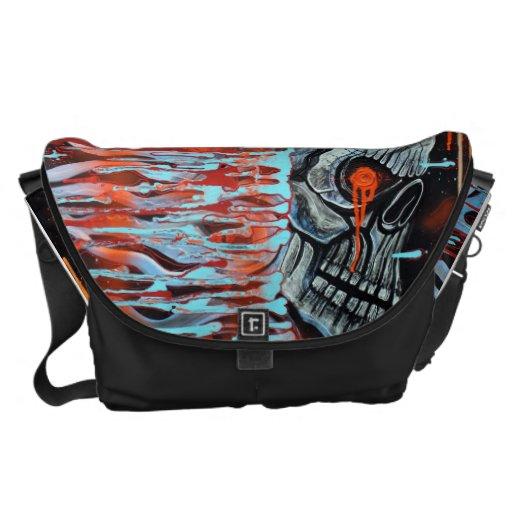 13TH Skull Messenger Bags