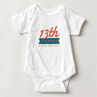 13th Step Sobriety Fellowship Recovery Baby Bodysuit