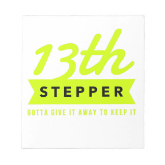 13th Step Sobriety Fellowship Recovery Notepad