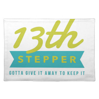 13th Step Sobriety Fellowship Recovery Placemat