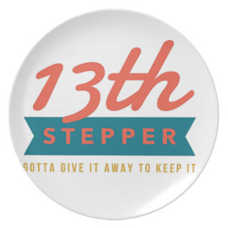 13th Step Sobriety Fellowship Recovery Plate