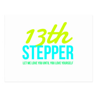 13th Step Sobriety Fellowship Recovery Postcard