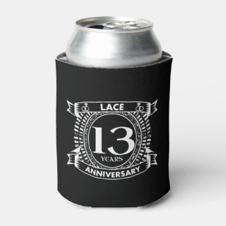 13TH wedding anniversary lace Can Cooler