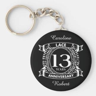 13TH wedding anniversary lace Key Ring