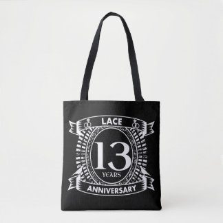 13TH wedding anniversary lace Tote Bag