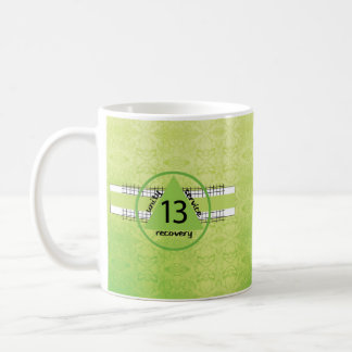 13th Year Peace Happiness 12 Step Recovery Anniv. Coffee Mug