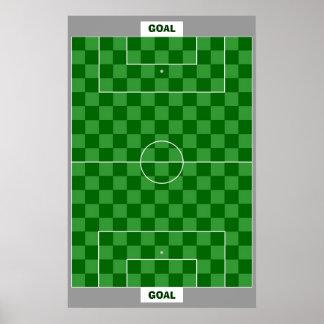 13x18 Soccer Goal TAG Grid (Fridge Magnets) Poster