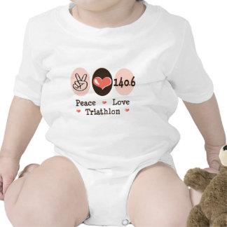 140.6 Peace Love Triathlon Baby Bodysuit
