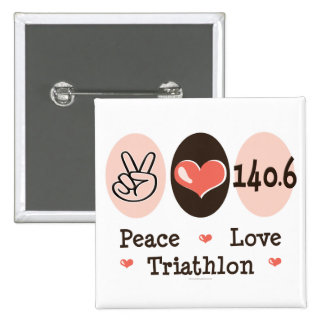 140.6 Peace Love Triathlon Button