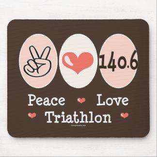 140 6 Peace Love Triathlon Mousepad