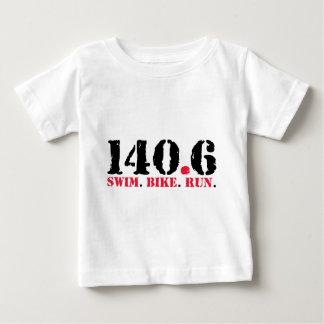 140.6 Swim Bike Run Baby T-Shirt