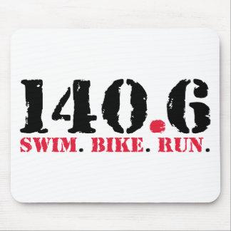 140.6 Swim Bike Run Mouse Pad