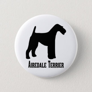 1415112006 Airedale Terrier (Animales) 6 Cm Round Badge