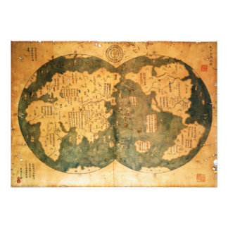 1418 Chinese World Map by Gavin Menzies Photograph