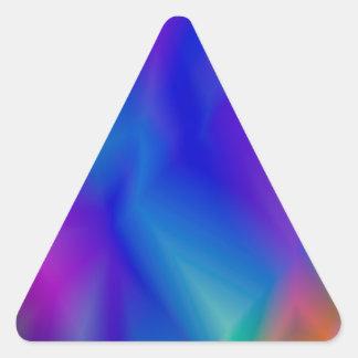 143Gradient Pattern_rasterized Triangle Sticker