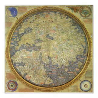 1460 The Fra Mauro Inverted World Map Posters