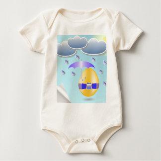 146Easter Egg_rasterized Baby Bodysuit