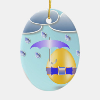 146Easter Egg_rasterized Ceramic Ornament