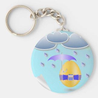 146Easter Egg_rasterized Key Ring