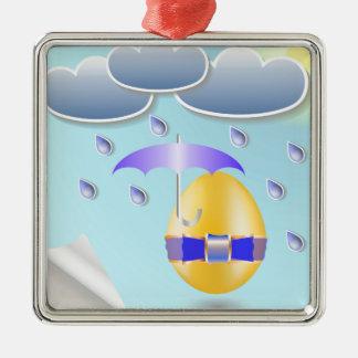 146Easter Egg_rasterized Metal Ornament
