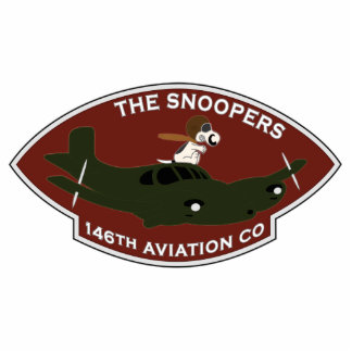 146th Aviation - The Snoopers Photo Sculpture Key Ring