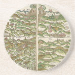 1475 Oldest Known Woodcut World Map Drink Coaster