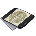 1475 Oldest Known Woodcut World Map Laptop Computer Sleeve
