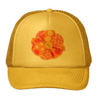 14779 FABRIC FLOWER SCRAPBOOKING POLKADOTS HIBISCU HATS