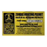 147th Zombie Task Force Hunting Permits Business Card Templates
