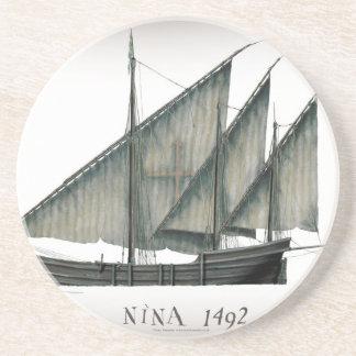 1492 Nina by Tony Fernandes Coaster