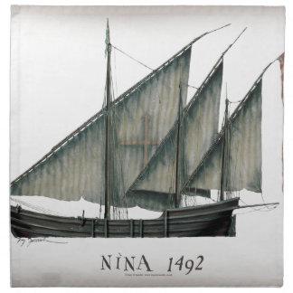 1492 Nina by Tony Fernandes Napkin