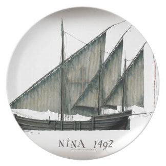 1492 Nina by Tony Fernandes Plate