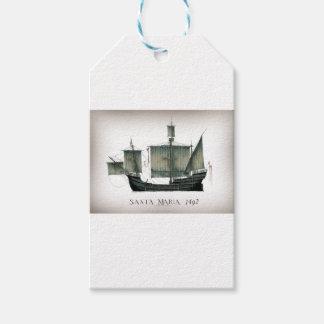 1492 Santa Maria by Tony Fernandes Gift Tags