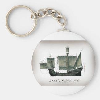 1492 Santa Maria by Tony Fernandes Key Ring