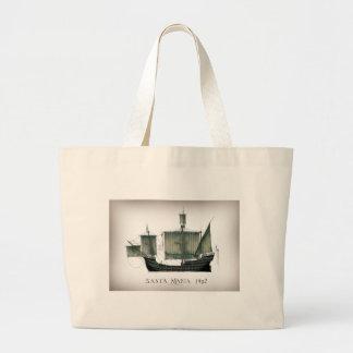 1492 Santa Maria by Tony Fernandes Large Tote Bag