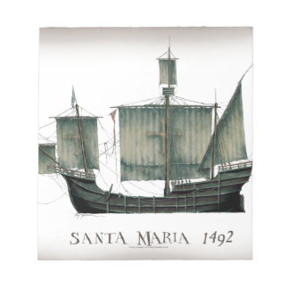 1492 Santa Maria by Tony Fernandes Notepad