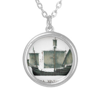 1492 Santa Maria by Tony Fernandes Silver Plated Necklace