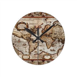 Old world maps wall clocks zazzle 1499 old world map antique history designer clock gumiabroncs Images