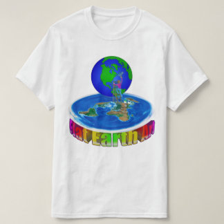 $14.95 Global Painter original Flat Earth Art T-Shirt