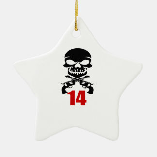14 Birthday Designs Ceramic Ornament