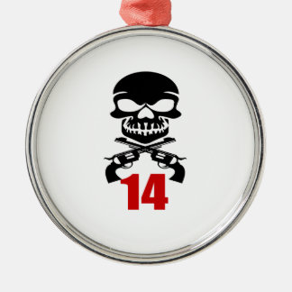 14 Birthday Designs Metal Ornament