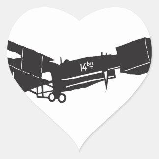 14 Bis Heart Sticker