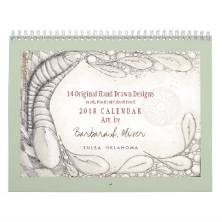 14 Original Drawings, Calendar 2018