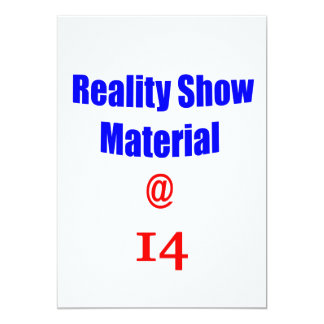 14 Reality Show Material Invites
