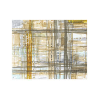 "14"" x 11"", 1.5"", Yellow Lines -  canvas print"