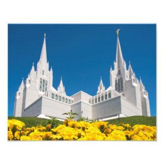 "14"" x 11"" Photo LDS San Diego Temple"