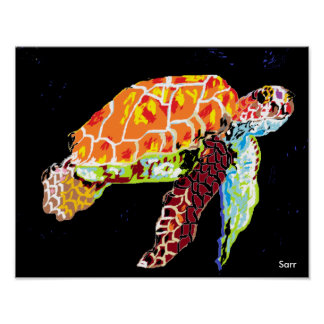 "14"" x 11"", Value Poster Paper (Matte) Sea Turtle"